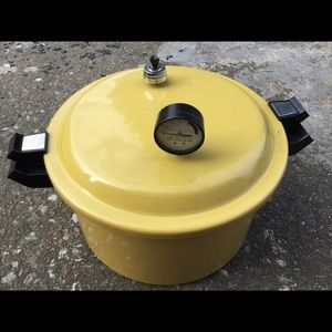 Presto VTG canning pressure cooker yellow pot